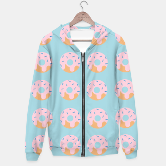 Thumbnail image of Sweet Doughnuts with pink icing Hoodie, Live Heroes