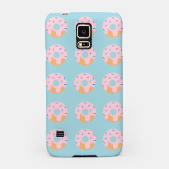 Miniatur Sweet Doughnuts with pink icing Samsung Case, Live Heroes