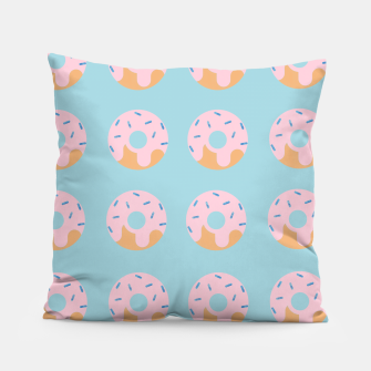 Thumbnail image of Sweet Doughnuts with pink icing Pillow, Live Heroes