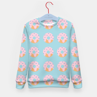 Miniatur Sweet Doughnuts with pink icing Kid's Sweater, Live Heroes
