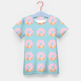 Miniatur Sweet Doughnuts with pink icing Kid's T-shirt, Live Heroes