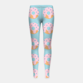 Thumbnail image of Sweet Doughnuts with pink icing Girl's Leggings, Live Heroes