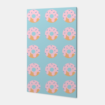 Thumbnail image of Sweet Doughnuts with pink icing Canvas, Live Heroes