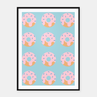 Thumbnail image of Sweet Doughnuts with pink icing Framed poster, Live Heroes