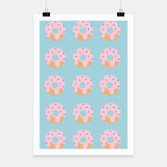 Miniaturka Sweet Doughnuts with pink icing Poster, Live Heroes
