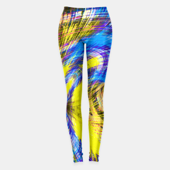 Miniature de image de geometric psychedelic splash abstract pattern in blue and yellow Leggings, Live Heroes