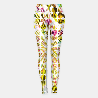 Miniature de image de geometric circle abstract pattern in yellow pink blue Leggings, Live Heroes