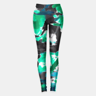 Miniature de image de psychedelic vintage camouflage painting texture abstract in green and black Leggings, Live Heroes