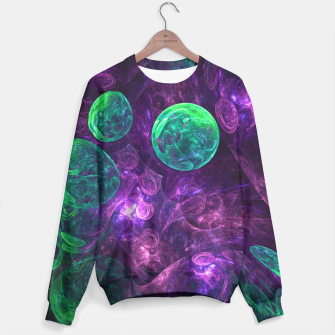 Miniatur Violet & Green Space Sweater, Live Heroes