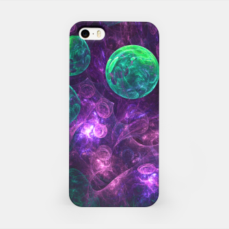 Miniatur Violet & Green Space iPhone Case, Live Heroes
