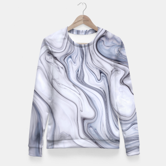 Miniaturka Gray Marble Fitted Waist Sweater, Live Heroes