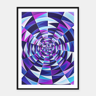 Pink / Purple Abstract Tunnel Abstract Circle  Plakat mit rahmen obraz miniatury