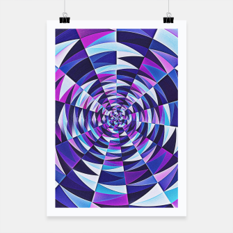 Pink / Purple Abstract Tunnel Abstract Circle  Plakat obraz miniatury