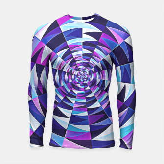Pink / Purple Abstract Tunnel Abstract Circle  Longsleeve Rashguard obraz miniatury