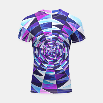 Pink / Purple Abstract Tunnel Abstract Circle  Shortsleeve Rashguard obraz miniatury