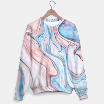 Miniatur Blue & Pink Marble Sweater, Live Heroes