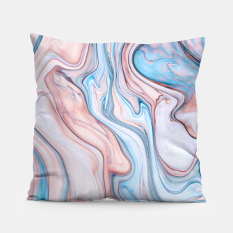 Miniatur Blue & Pink Marble Pillow, Live Heroes