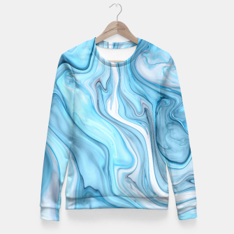 Miniaturka Blue Marble Fitted Waist Sweater, Live Heroes