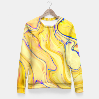 Miniaturka Yellow Marble Fitted Waist Sweater, Live Heroes
