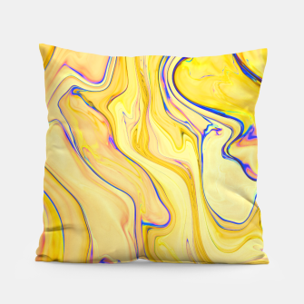 Miniatur Yellow Marble Pillow, Live Heroes