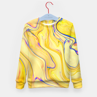 Miniatur Yellow Marble Kid's Sweater, Live Heroes