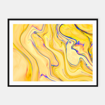 Miniaturka Yellow Marble Framed poster, Live Heroes