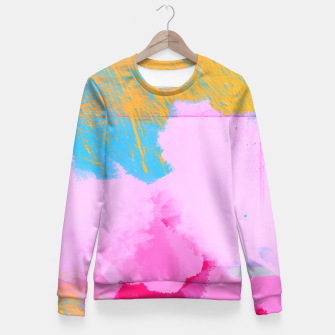 Miniatur Pink Clouds Fitted Waist Sweater, Live Heroes