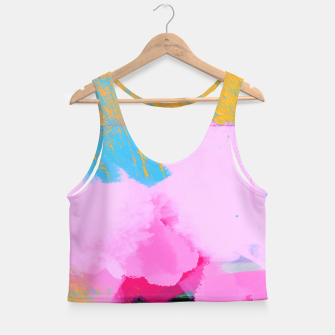 Miniatur Pink Clouds Crop Top, Live Heroes