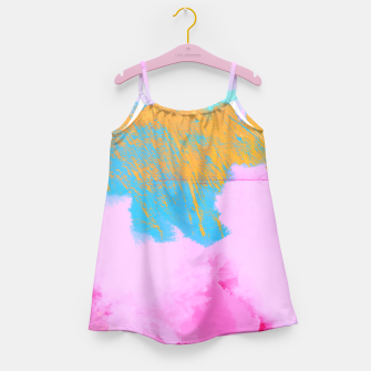 Miniatur Pink Clouds Girl's Dress, Live Heroes