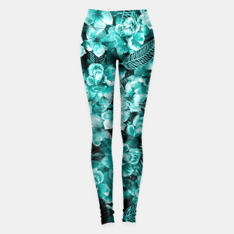 Thumbnail image of Green Flowers  Leggings, Live Heroes