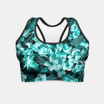 Miniature de image de Green Flowers  Crop Top, Live Heroes