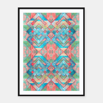 Thumbnail image of Abstract colorful pattern design  Plakat mit rahmen, Live Heroes