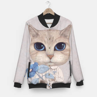 Imagen en miniatura de Cat with a Blue Fower Baseball Jacket, Live Heroes