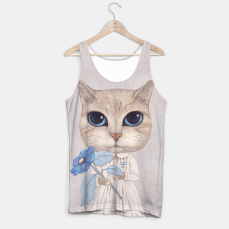 Thumbnail image of Cat with a Blue Fower Tank Top, Live Heroes