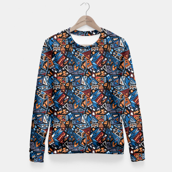Miniatur Stylish geometric abstract colorful pattern Fitted Waist Sweater, Live Heroes