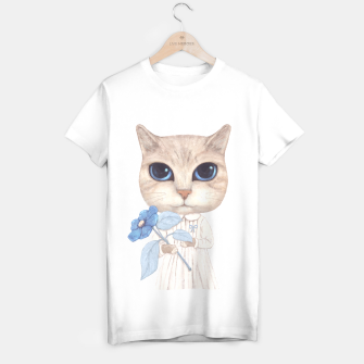 Miniaturka Cat with a Blue Fower T-shirt regular, Live Heroes