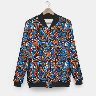 Imagen en miniatura de Stylish geometric abstract colorful pattern Baseball Jacket, Live Heroes