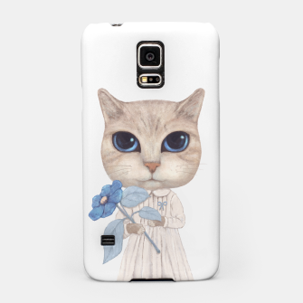 Miniatur Cat with a Blue Fower Samsung Case, Live Heroes