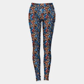 Miniatur Stylish geometric abstract colorful pattern Leggings, Live Heroes