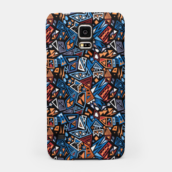 Miniatur Stylish geometric abstract colorful pattern Samsung Case, Live Heroes