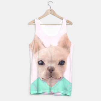 Thumbnail image of French Bull Dog Tank Top, Live Heroes