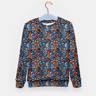 Miniatur Stylish geometric abstract colorful pattern Kid's Sweater, Live Heroes