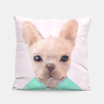 Miniatur French Bull Dog Pillow, Live Heroes