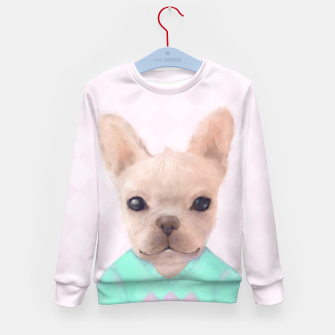 Miniatur French Bull Dog Kid's Sweater, Live Heroes