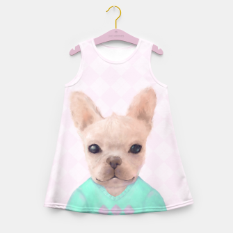 Miniaturka French Bull Dog Girl's Summer Dress, Live Heroes
