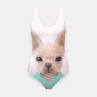Miniatur French Bull Dog Swimsuit, Live Heroes