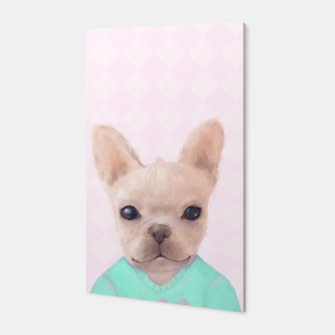 Miniatur French Bull Dog Canvas, Live Heroes