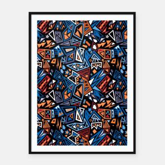 Thumbnail image of Stylish geometric abstract colorful pattern Framed poster, Live Heroes
