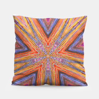 Miniatur colorful strings Pillow, Live Heroes
