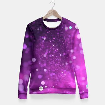 Miniatur Violet glitter Fitted Waist Sweater, Live Heroes